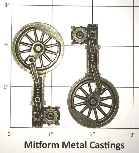 MitForm - Metal Casting - Mechanism Key (2 pcs)