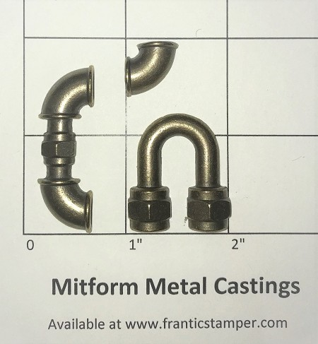 MitForm - Metal Casting - Plumbing Bends (3 pcs)