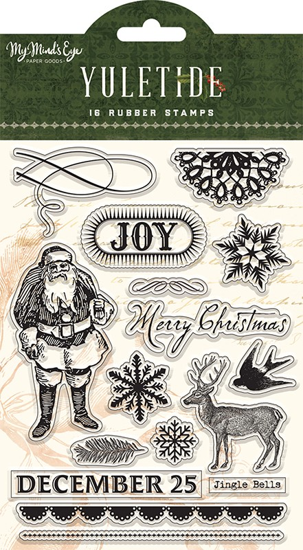 My Mind's Eye - Yuletide Collection - Puffy Stickers