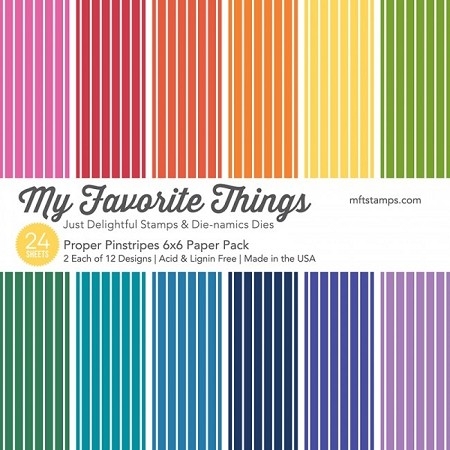 "My Favorite Things - 6""x6"" paper pad - Proper Pinstripes Paper Pack"