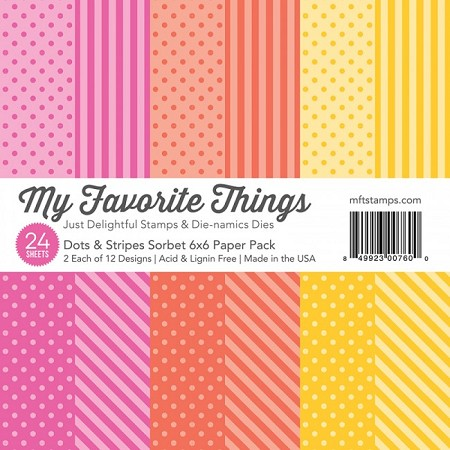 "My Favorite Things - 6""x6"" paper pad - Dots & Stripes Sorbet Paper Pack"