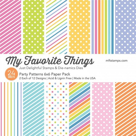 "My Favorite Things - 6""x6"" paper pad - Party Patterns Paper Pack"