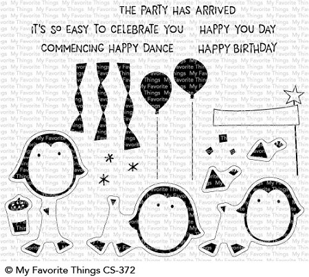 My Favorite Things - Clear Stamp - Party Penguins