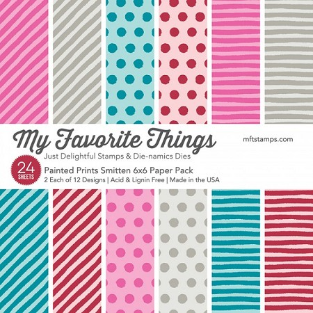 "My Favorite Things - 6""x6"" paper pad - Painted Prints Smitten Paper Pack"
