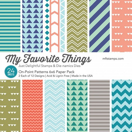 "My Favorite Things - 6""x6"" paper pad - On-Point Paper Pack"