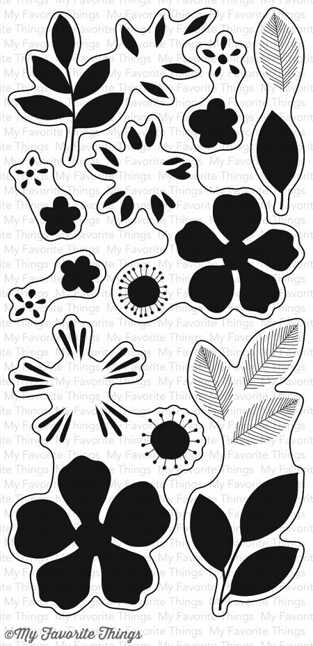 My Favorite Things - Clear Stamp - Flashy Florals