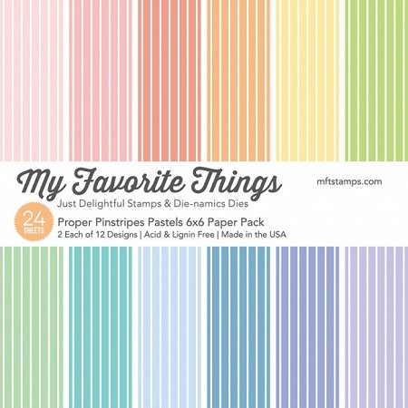 "My Favorite Things - 6""x6"" paper pad - Proper Pinstripes Pastel Paper Pack"