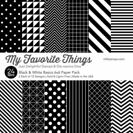 "My Favorite Things - 6""x6"" paper pad - Black & White Basics Paper Pack"