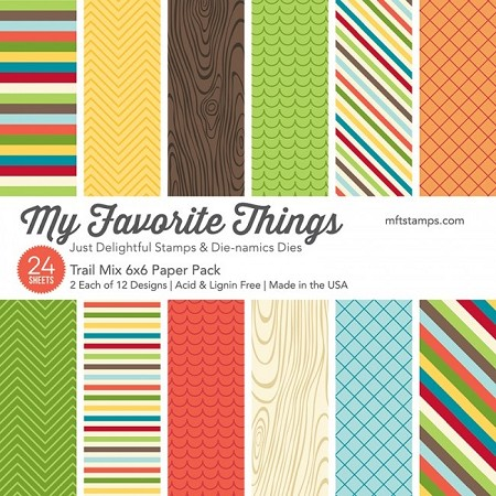"My Favorite Things - 6""x6"" paper pad - Trail Mix Paper Pack"