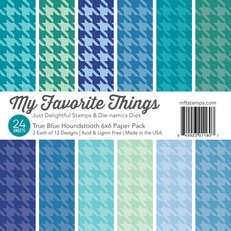 "My Favorite Things - 6""x6"" paper pad - True Blue Houndstooth Paper Pack"