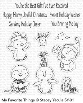 My Favorite Things - Clear Stamp - SY Sweet Holiday Penguins
