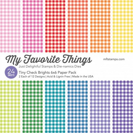 "My Favorite Things - 6""x6"" paper pad - Tiny Check Bright Paper Pack"