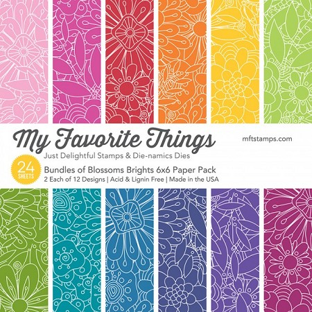 "My Favorite Things - 6""x6"" paper pad - Bundles of Blossoms Bright Paper Pack"