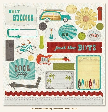 My Minds Eye-Good Day Sunshine - Boy Accessory Sheet