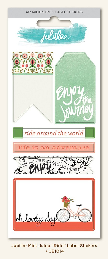 My Mind's Eye - Jubilee Collection - Mint Julep Ride Sticker Labels