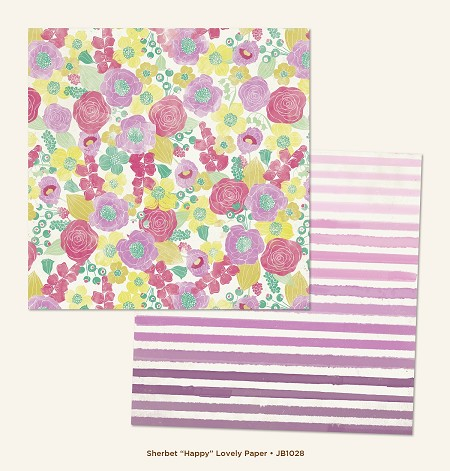 "My Mind's Eye - Jubilee Collection - Sherbet Happy ""Lovely"" Paper"