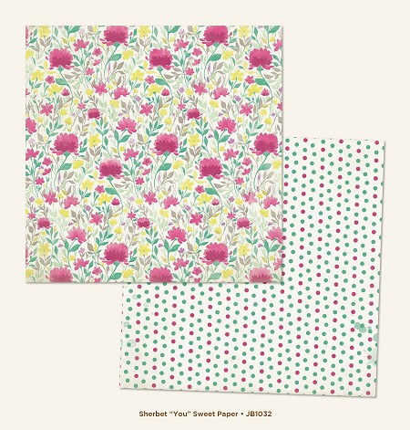 "My Mind's Eye - Jubilee Collection - Sherbet You ""Sweet"" Paper"