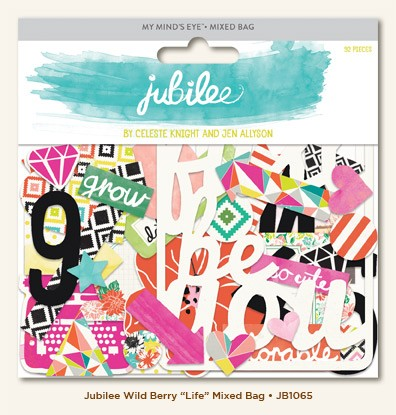 My Mind's Eye - Jubilee Collection - Wild Berry Life Mixed Bag Die Cuts