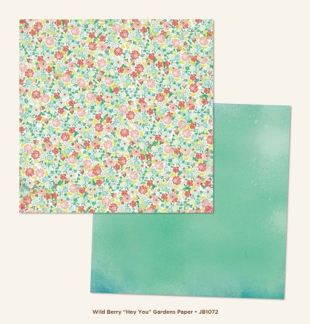 "My Mind's Eye - Jubilee Collection - Wild Berry Hey You ""Gardens"" Paper"