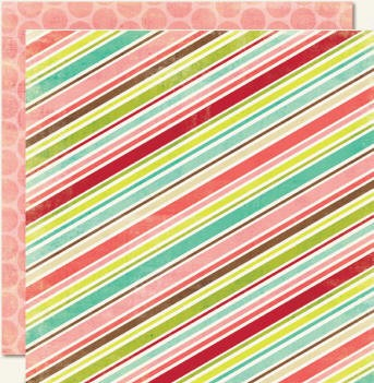 "Lime Twist - ""Be You"" Stripe - Double Sided Paper"