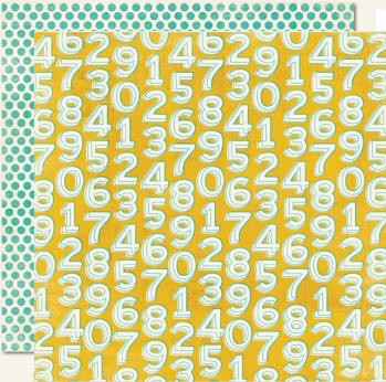 "Lime Twist - ""Playful"" Numbers - Double Sided Paper"