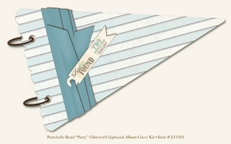 "My Mind's Eye - Lost and Found - Portobello Road ""Party"" Glittered Chipboard Album Cover Kit"
