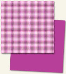 Lush Double Sided Paper - Fuchsia Houndstooth