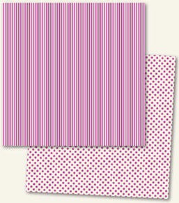 Lush Double Sided Paper - Fuchsia Stripe