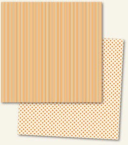 Lush Double Sided Paper - Orange Stripe