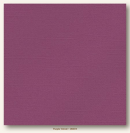"My Mind's Eye - My Colors Cardstock - Glimmer 12""x12"" - Purple Velvet"