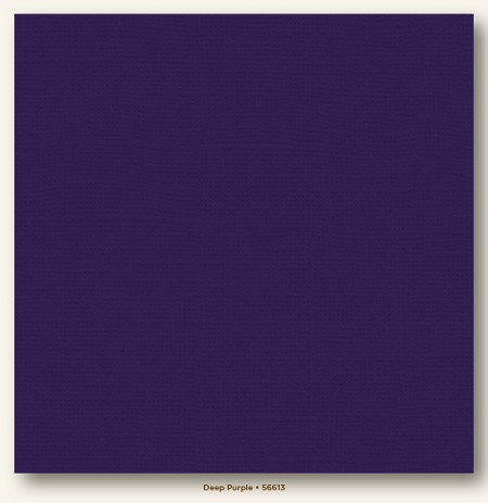 "My Mind's Eye - My Colors Cardstock - Canvas 12""x12"" - Deep Purple"