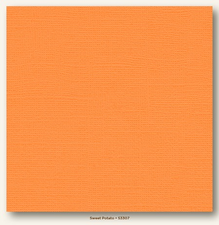 "My Mind's Eye - My Colors Cardstock - Canvas 12""x12"" - Sweet Potato"
