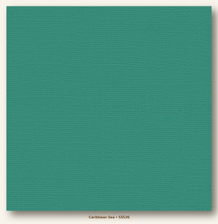 "My Mind's Eye - My Colors Cardstock - Canvas 12""x12"" - Caribbean Sea"