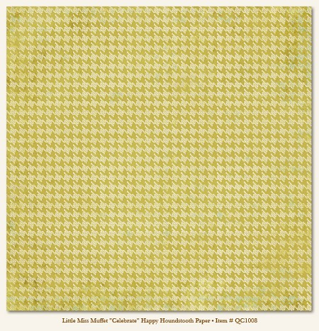 Quite Contrary Double Sided Paper - Happy Houndstooth