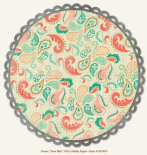 So Sophie Die Cut Paper - Pure Bliss Witty Paisley