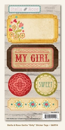 "Stella & Rose - Gertie ""Girly"" Sticker Tags"