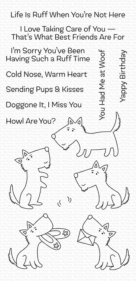 My Favorite Things - Clear Stamp - Pups & Kisses