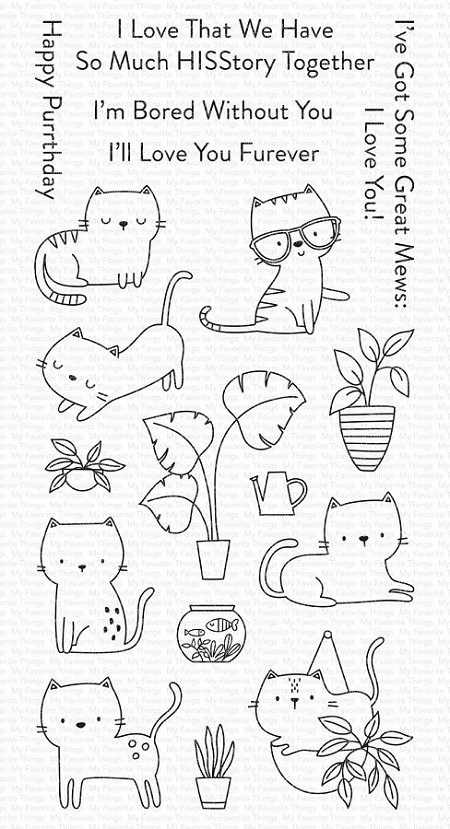 My Favorite Things - Clear Stamp - Housecats