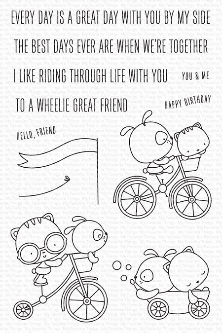 My Favorite Things - Clear Stamp - Wheelie Great Friend