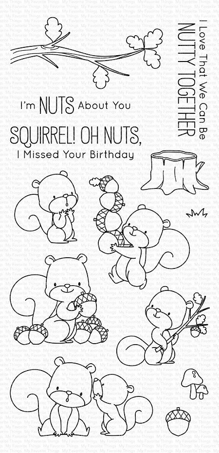 My Favorite Things - Clear Stamp - BB Squirrel!