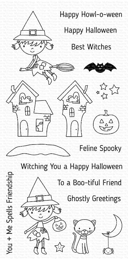 My Favorite Things - Clear Stamp - Best Witches