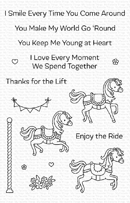 My Favorite Things - Clear Stamp - Carousel Horses