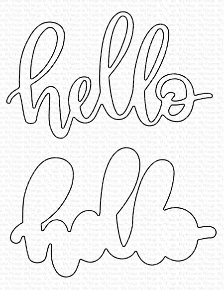 My Favorite Things - Die-namics - Little Hello