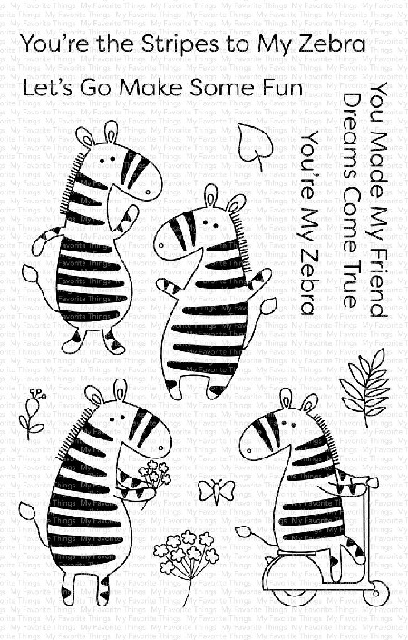 My Favorite Things - Clear Stamp - Zippy Zebras