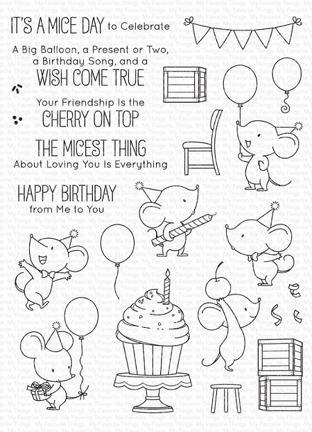 My Favorite Things - Clear Stamp - BB Mice Day To Celebrate