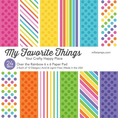 "My Favorite Things - 6""x6"" paper pad - Over The Rainbow"