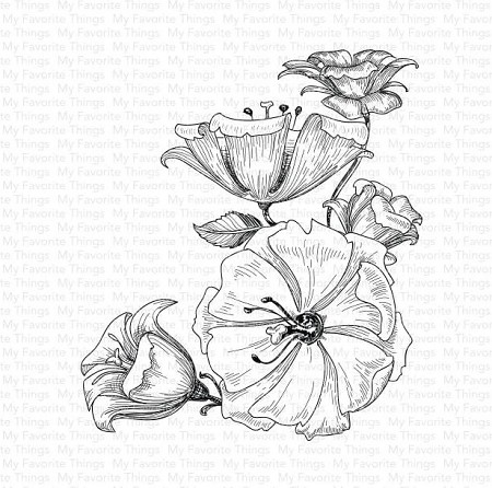 My Favorite Things - Cling Rubber Stamp - Floral Fantasy