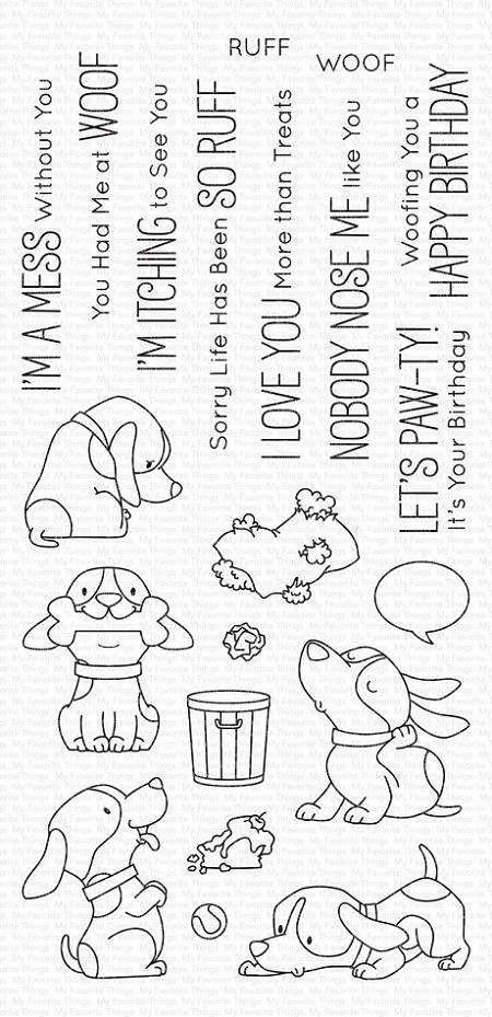My Favorite Things - Clear Stamp - BB Woof Pack