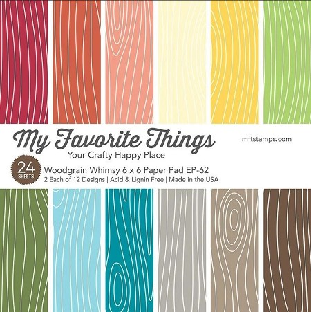My Favorite Things - Woodgrain Whimsy 6x6 paper pad