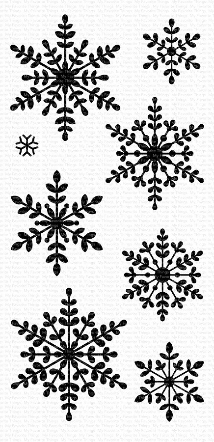 My Favorite Things - Clear Stamp - Serene Snowflakes